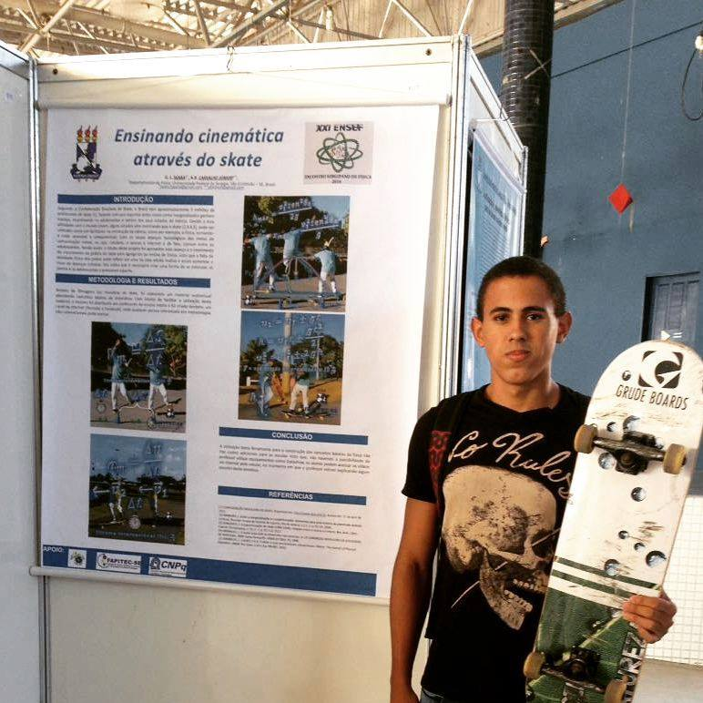 O skatista ilheense Gabriel Seara faz parte do projeto.