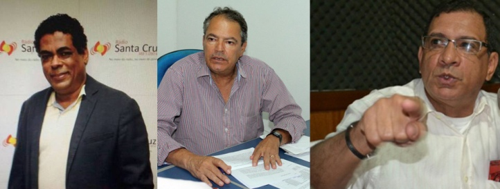 Gil Gomes, José Victor Pessoa e Jabes Ribeiro.