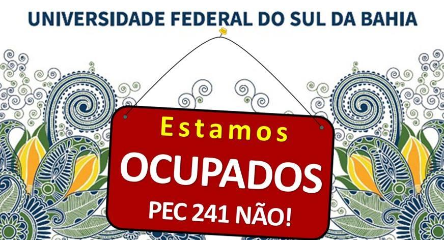 Imagem do movimento Ocupa UFSB.