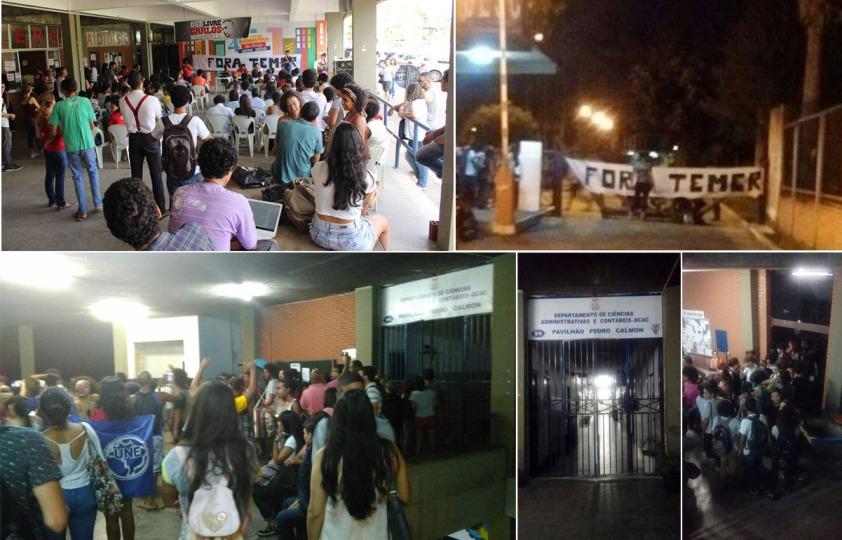 Imagens: Ascom-ADUSC, WhatsApp e Facebook. Montagem: Blog do Gusmão.