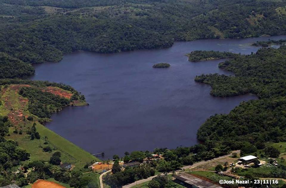 Represa Iguape. Nazal registrou imagem na tarde dessa quarta-feira, 23 de novembro.