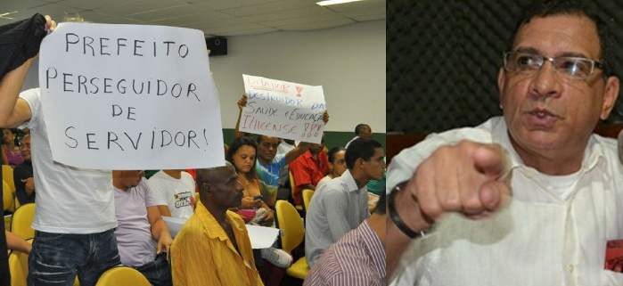 Governo Jabes Ribeiro e servidores não se entendem. Imagens: JBO e Rádio Santa Cruz.