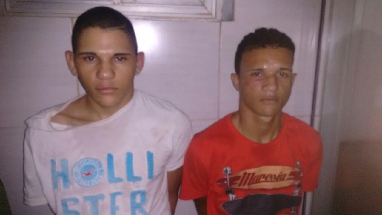 Denúncia levou a PM até João Victor e Rodrigo.