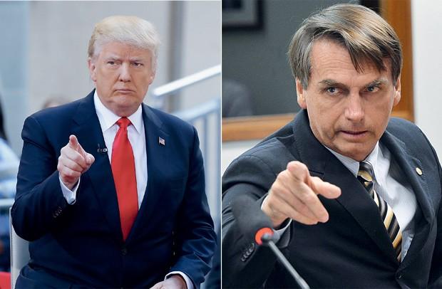 Donald Trump e Jair Bolsonaro. Fonte: Getty Images.