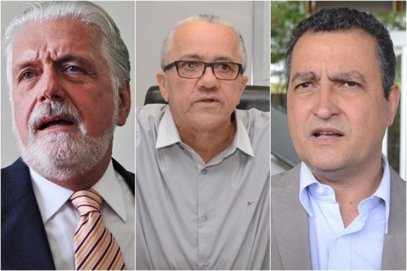 Jaques Wagner, Josias Gomes e Rui Costa. Montagem: Bocão News.