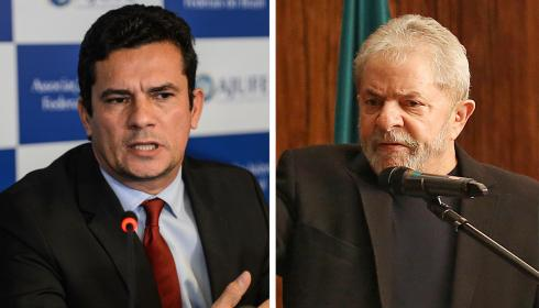O juiz Sergio Moro e o ex-presidente Luiz Inácio Lula da Silva.