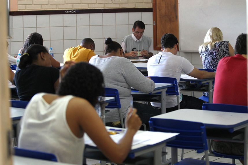 Prova de seleção de professores na rede estadual.(REDA) Imagem: Elói Corrêa/ GOVBA Foto: Elói Corrêa/GOVBA