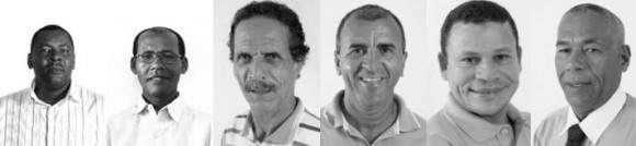 Os vereadores Benildo da Passagem, Hamilton Paixão Guri, Givaldo da Ambulância, Miguel da Matinha e Milton Ramos.