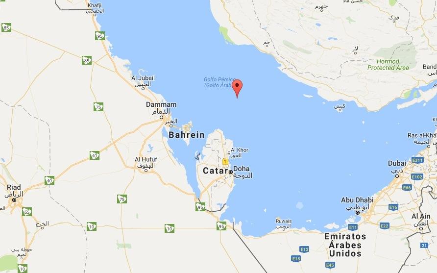 Catar enfrenta isolamento diplomático no Golfo Pérsico. Imagem: Google Maps.