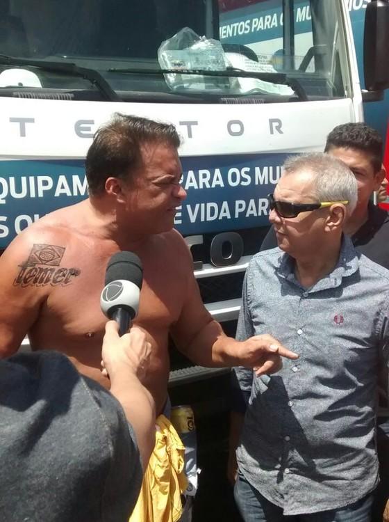"""Wladimir  revela """"homenagem"""" durante ato no Pará. Imagem: Diário do Pará."""