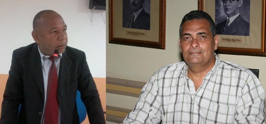 Os vereadores Nerival Reis e Jamil Ocké.