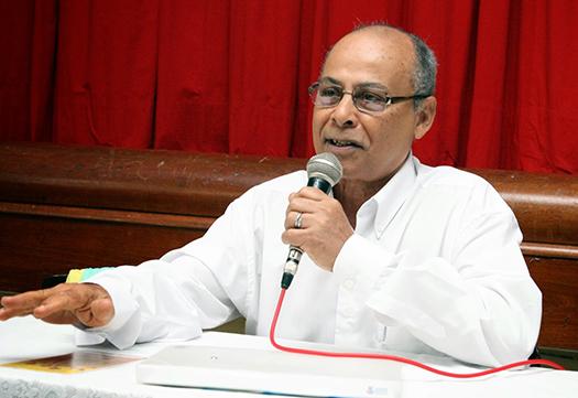 Professor Ruy Póvoas. Imagem: Jonildo Glória.