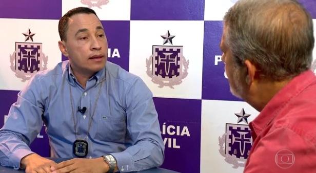 Reportagem ouviu o delegado Humberto Costa, da Polícia Civil. Imagem: Fantástico.
