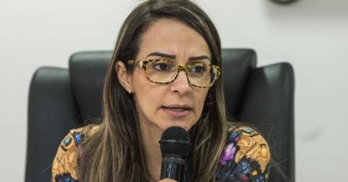 Secretária de Saúde Lízia Miranda. Imagem: Pedro Augusto.