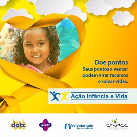 Campanha de combate ao câncer infantojuvenil. Imagem: Dilvugação.