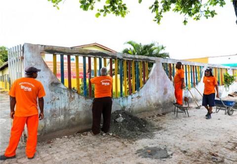 Obras na Creche Municipal Dom Eduardo. Imagem: SECOM/Ilhéus.