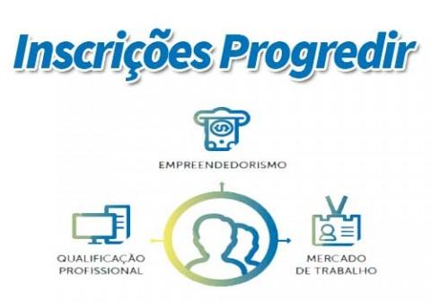 Inscrições Plano Progredir. Imagem: Divulgação.