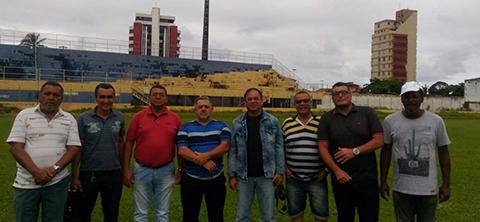 FBF avalia Estádio Mário Pessoa.