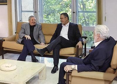Rui se reúne com presidente de Cuba. Imagem: Divulgação/Governo de Cuba