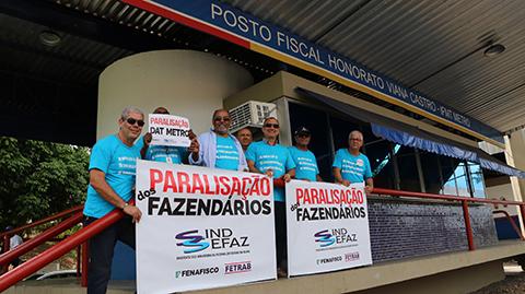 Fazendários rumo à greve geral. Imagem: Imprensa/Sindsefaz.