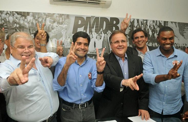 ACM Neto e os irmãos Lúcio e Geddel Vieira Lima.