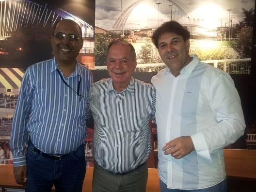 Alaison Batista, Leão e Roberto Barbosa. Imagem: Pimenta/Facebook.
