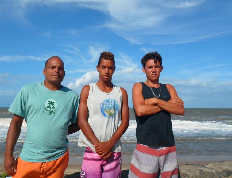 Alexandre Evangelista, Lucas Rodrigues e Murilo Silva. Foto: Blog do Gusmão/Thiago Dias.