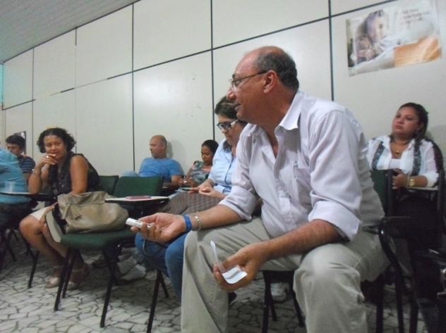 Antônio Ocké, na reunião extraordinária do Conselho Municipal de Saúde. Foto: Thiago Dias/Blog do Gusmão.