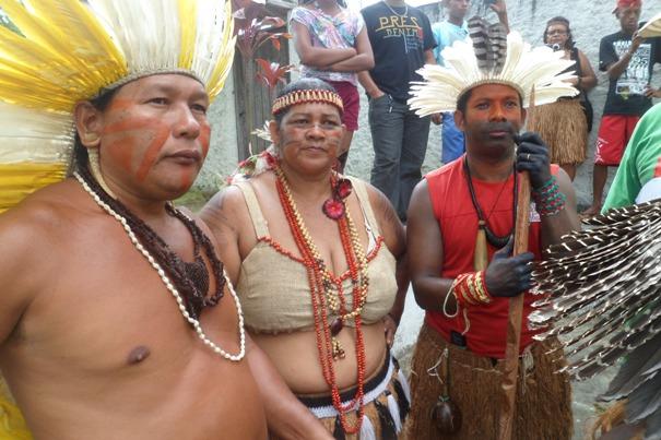 Os Caciques Gildo, Valdelice e Suçuarana lideram a ocupação.