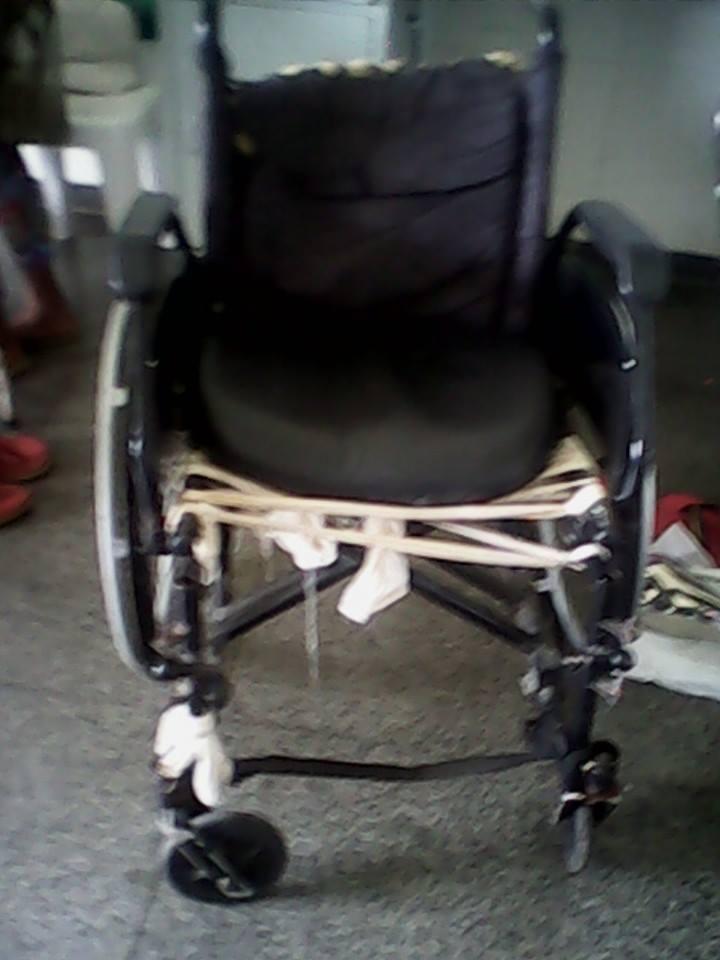 Cadeira de rodas do Hospital Regional.