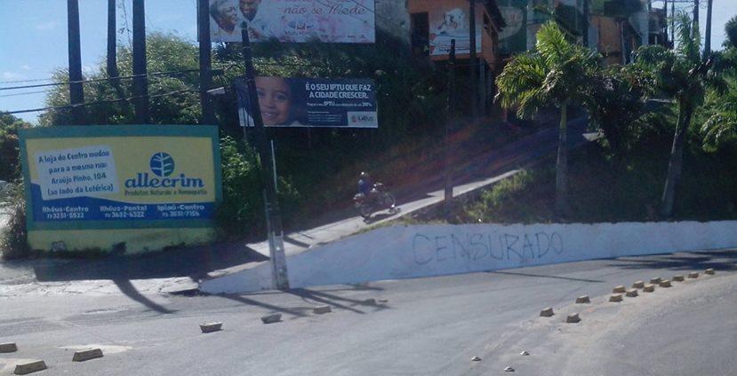 O Governo Jabes não tolera a arte. Foto: Thiago Dias/Blog do Gusmão.