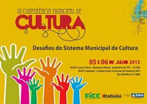 Convite - III Conferência Municipal de Cultura de Itabuna