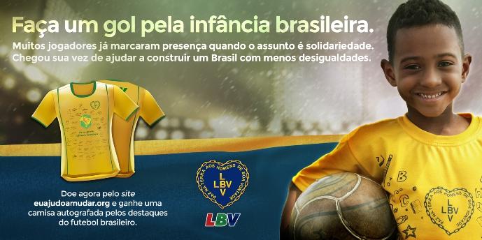 """""""Faça um gol pela infância brasileira""""."""