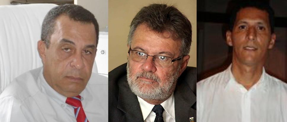 Cosme Araújo, Isaac Albagli e John Ribeiro.