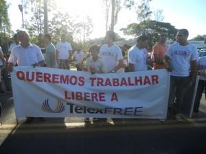 Protesto do telexfree Imagem: Gabriela Caldas/Blog do Gusmão