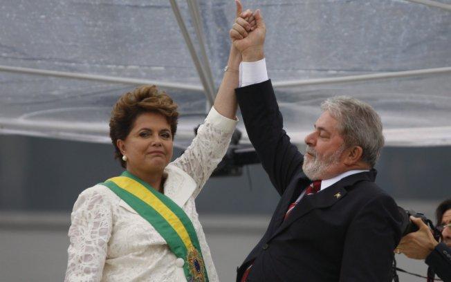 Ex-presidentes Dilma e Lula.