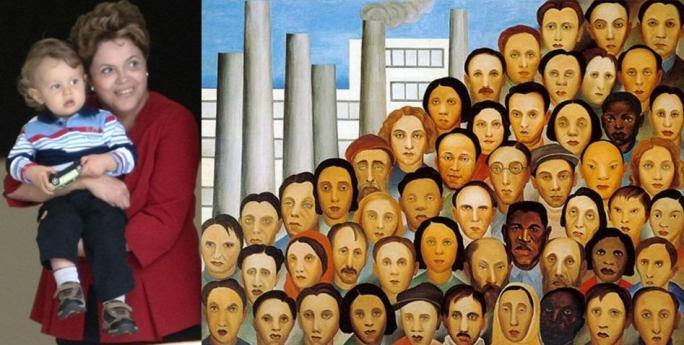 Gabriel, Dilma e imagem do Operários,