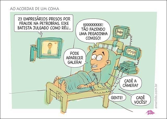 Charge do Amarildo/A Gazeta.