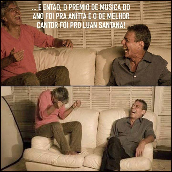 """Todo ano, as Organizações Globo homenageiam """"os melhores do ano"""". Chico Buarque e Caetano Veloso comentaram as escolhas dos cantores Luan Santana e Anita."""