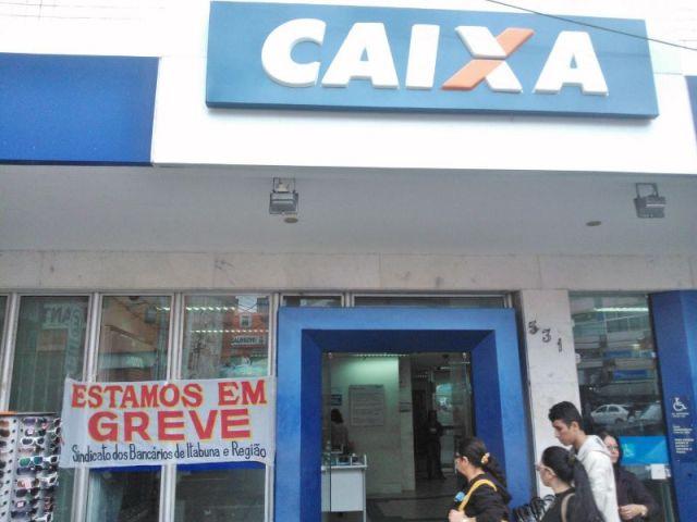 Agência da CEF fechada em Itabuna. Imagem: Gabriela Caldas.