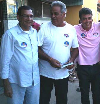 Jabes, César e Rafael durante a campanha de 2012.