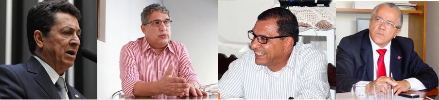 Geraldo, Rosemberg, Jabes e Josias: PT no Paranaguá mais uma vez.