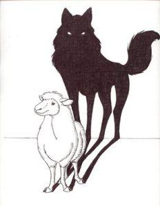 """""""Lobo em pele de cordeiro""""."""