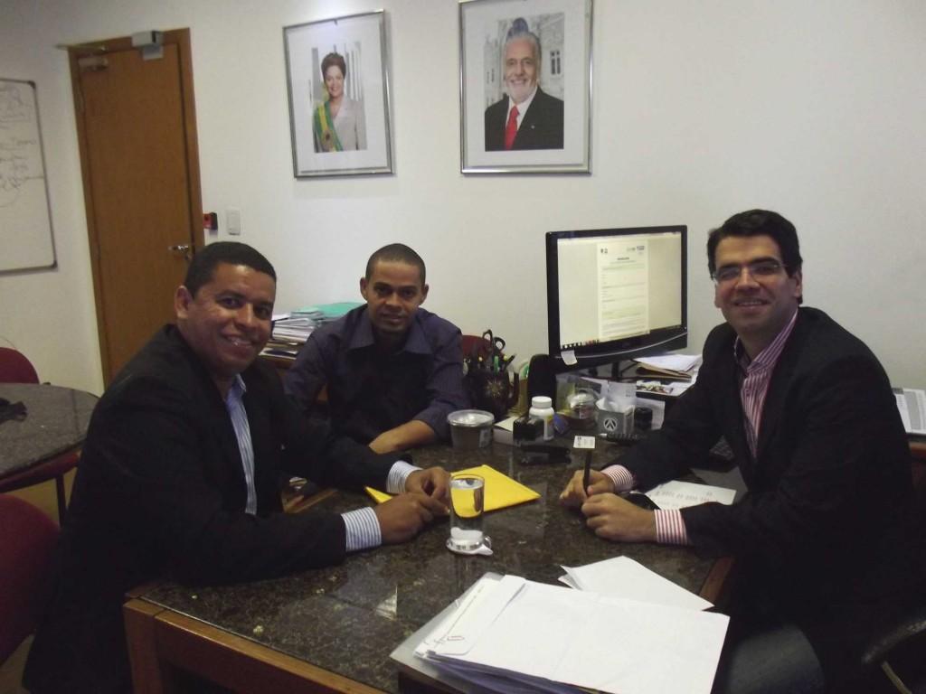 Fabio Magal, Jenilson Menezes e Vivaldo Mendonça.