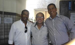 Jorge Luis, Marcos Alcântara e Fabio Magal, representantes de Ilhéus no Raps
