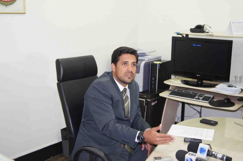 Delegado Mario Vinicius. Foto Emílio Gusmão.
