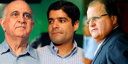 Paulo Souto, ACM Neto e Geddel.
