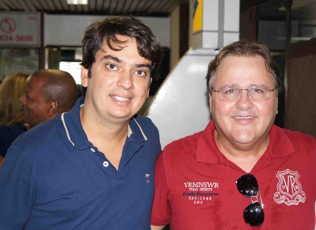 O deputado estadual Pedro Tavares (PMDB) e Geddel Vieira Lima