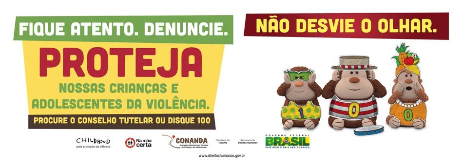 Campanha contra a violência sexual.