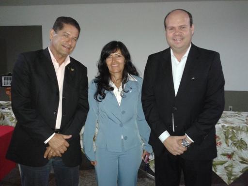 Pompílio Neto, Elba Karla e Alexandre Seabra.